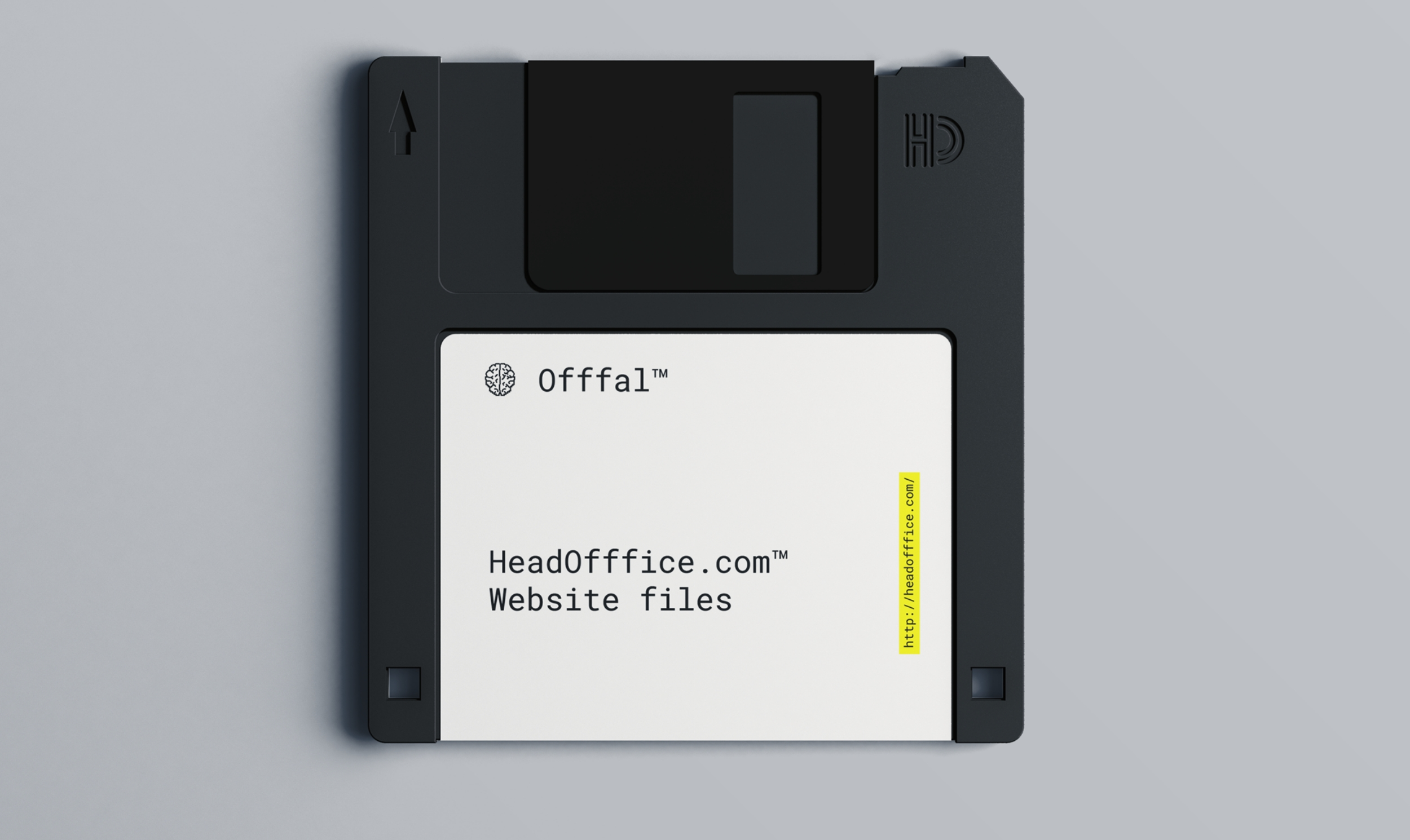 HeadOfffice Leeds Agency design social and branding. Floppy disk and funky operating system by Gaz Battersby